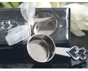 Elegant Chrome Double Heart Coffee Scoop Item  # 3400