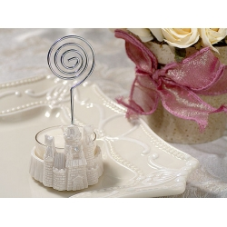 Place Card Holder / Candle Holder w/ T-Light  Castle White Color Item  # 5606