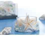 Starfish Candle Holder Blue Color Item  # 5915cc