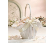 Large Satin Basket Ivory FB403 I LR