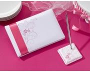 Pink Floral Guestbook & Pen Set GB492 P LR