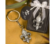 Birthday Wedding Bridal Fleur De Lis KeyChain Favors