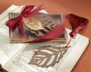 Turning Leaves Bookmark with Burgundy Silk Tassel 11037NA