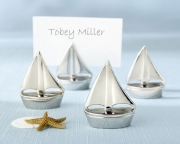 Shining Sails Silver Place Card Holders (Set of Four) 11044NA