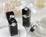 With This Ring Chrome Diamond-Ring Bottle Stopper 11057NA