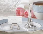 Evening in Paris Eiffel Tower Silver-Finish Place Card/Holder (set of 4) 11063NA