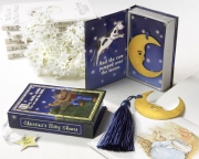Over the Moon Vintage Moon Bookmark with Tassel in Nursery Rhyme Keepsake Book Box 14028NA