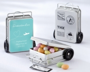 Miles of Memories Suitcase Favor Tins with Optional Personalized Labels(Set of 12) 14031NA