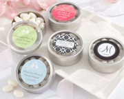 Simply Sweet Round, Personalized Candy Tin (set of 12) 14040NA