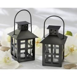 Luminous Black Mini Lantern Tea Light Holder 14048BK