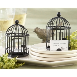 Love Songs Birdcage Tea Light/Place Card Holder 14070BK