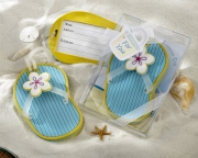 Flip-Flop Luggage Tag in Beach-Themed Gift Box 17022BL