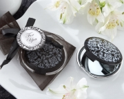 Reflections Elegant Black-and-White Mirror Compact 18030BK