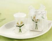 Calla Lily Elegance Vase Shaped Candle 20043NA