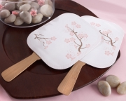 Cherry Blossoms Fan with Bamboo Handle (Set of 24-Personalization Available) 22019NA