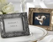 Work of Art Antique-Finish Place Card Holder/Photo Frame 25053SV