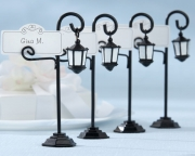 Bourbon Street Streetlight Place Card Holder with Coordinating Place Cards (Set of 4)