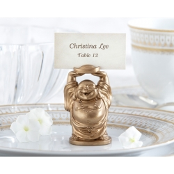 Laughing Buddha Place Card Holder (Set of 4) - As Seen in InStyle Magazine 25064GD