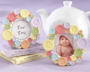 Cute as a Button Round Photo Frame 25075NA