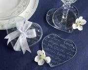 Good Wishes Heart Glass Coasters 27025NA