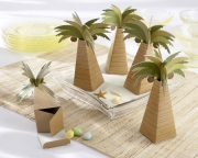 Palm Tree Favor Box with Multi-dimensional Detail (Set of 24) 28055NA