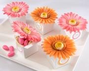 Daisy Delight Gerbera Daisy Favor Box (Bright Orange or Hot Pink) (Set of 24) 28091HP